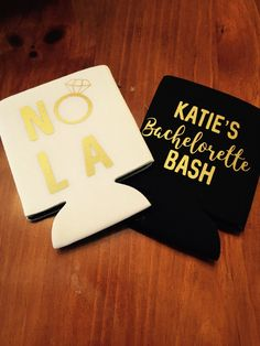 NOLA bachelorette bash can coolers / new orleans bachelorette party / nola bachelorette party favors / fast shipping by TheBridesLastBash on Etsy
