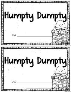 Humpty Dumpty Emergent Reader {Freebie} by Becky Lehtinen Rhyming Activities, Kindergarten Literacy, Preschool Classroom, Book Activities, Physics Classroom, Spring Activities, Preschool Ideas, Preschool Crafts, Teaching Ideas