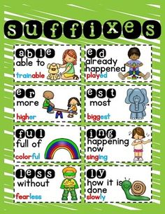 PREFIX AND SUFFIX FREEBIE -