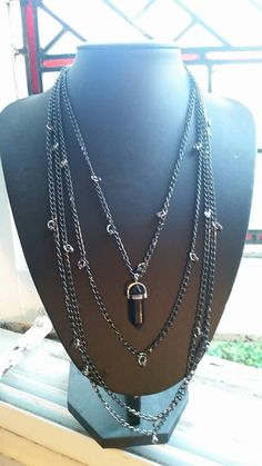 This item is unavailable Layered Necklace, My Etsy Shop, Handmade Jewelry, Chain, Stone, Diamond, Silver, Shopping, Collection