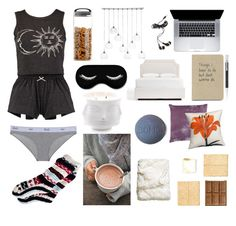 """""""Night in"""" by shaiann-pinero on Polyvore featuring interior, interiors, interior design, home, home decor, interior decorating, Pottery Barn, Forever 21, William Yeoward and CB2"""