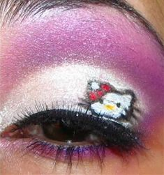 Hello Kitty makeup.