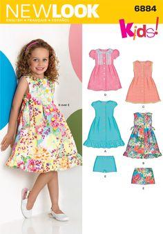 NL6884 Child Dress & Shorts