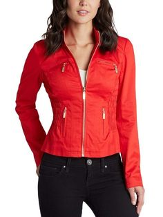 GUESS Pallus Jacket Formula One Red $49 SHIPS FREE BEACH HIPPIE (Patent Pending) Ladies Clothing KIOSKS IN NJ AND & NY ♥ ♥ ♥ AUTHENTIC TOP BRANDS♥ ♥ ♥ OUR PRICES ARE THE BEST!...GUARANTEED! ♥ ♥ ♥
