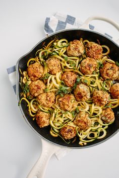 Thai Chicken Meatballs with Zucchini Noodles; Surprisingly easy and taste really good.