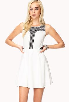 A skater dress featuring a netted overlay. Invisible back zipper with. Casual Outfits, Cute Outfits, Casual Clothes, Dresses For Work, Formal Dresses, Spice Girls, How To Feel Beautiful, Summer Looks, Well Dressed