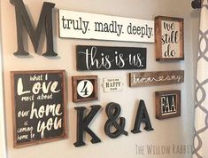 Farmhouse decor gallery wall | This is Us | Anniversary Gift | Bedroom Decor | Gallery Wall #diydecorating