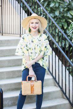 Lemon Print Blouse For Spring Under $100 - Poor Little It Girl