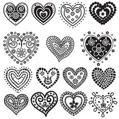 Heart doodles templates - doodles heart doodle, zentangle и Doodles Zentangles, Zentangle Patterns, Embroidery Patterns, Tattoo Patterns, Embroidery Hoops, Felt Patterns, Embroidery Jewelry, Doodle Drawings, Doodle Art
