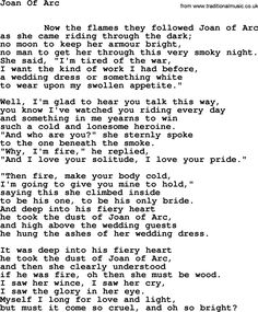 Leonard Cohen song Joan Arc-leonard-cohen.txt lyrics