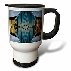 Jos Fauxtographee Abstract - A bus reshaped and molded to look 3D in Blue - 14oz Stainless Steel Travel Mug (tm_39824_1) 3dRose http://www.amazon.com/dp/B00B2UHE6A/ref=cm_sw_r_pi_dp_S7HZwb0HWG4TN