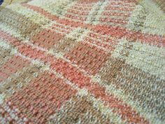 Diana also brought a place mat that she wove from natural colored tow linen. The design is somewhat hard to see in the photo. She said that before washing, ...