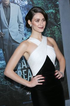 bad makeup but perfect dress  Emmy Rossum in Andrew Gn | Tom & Lorenzo
