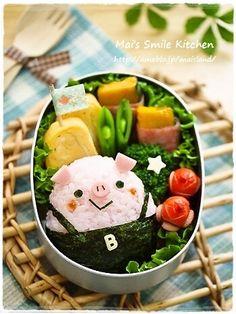 seaweed overall pig bento