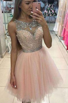 2019 vestidos de fiesta brillantes Bateau línea de tul con listones US$ 189.00 VEPCJ39DQ1 - 2016Vestido.com for mobile