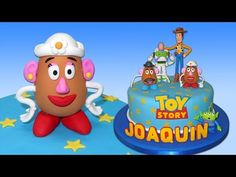 Toy Story (Cake Toppers) Part 8: Mrs Potato Head / Cómo hacer a la Sra. Cara de Papa para tortas - YouTube