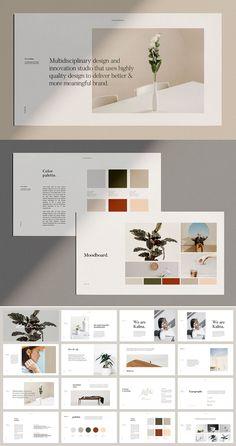 KALINA - Keynote Brand Guidelines Site Web Design, Ppt Design, Brochure Design, Branding Design, Keynote Design, Identity Branding, Design Posters, Corporate Identity, Corporate Design