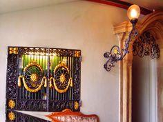 Eingang Hotel Platengarten, Ansbach, Germany, Bavaria, Mittelfranken, Frankonia, #iron #gate #gates #door #doors