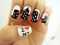 New York Nail art - Hear it calling your name @Casey Hatcher