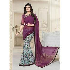 Saiveera staylish New Arrival Ayesha Designer Half Printed Daily Wear Georgette Purple Saree/Sari Saiveera Fashion Is a Best Manufacturer, Exporter,Wholesaler, As well as Best and dealer,Retailar Of Designer,Embroidery Wedding Sari,Kids Lahenga Choli,Salwar Suit,Dress Material,etc.in surat Textile Market. Also Mainly Focus On Style,Choice,Fabric. So Saiveera Fashion Also Made Designer, Printed, Cotton,Fancy,Kurtis,Saree,Embroidery,Partywear,For More Query Please Call Or Whatsapp…