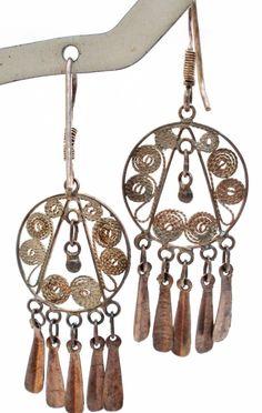 Vintage Sterling Silver Cannetille Dangle Earrings Drop Pierced Filigree Jewelry | Jewelry & Watches, Vintage & Antique Jewelry, Fine | eBay!