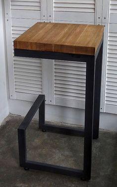 Купить Барный стул - мебель ручной работы, мебель из дерева, мебель на заказ, лофт, индастриал