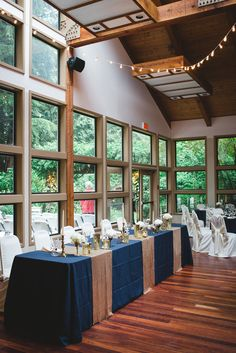 Wedding Whonnock Lake Centre Maple Ridge Ronnie Lee Hill Photography Delovely Creative Decor Brass Navy Blue Ivory Vintage Gold Head Table