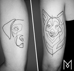 Mo Ganji dog tattoo