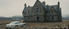 Skyfall Manor House residence of James Bond as a child. constructed for the film in Surrey England James Bond Skyfall, Highlands, Best Bond, Best Cinematography, English Manor, Scottish Castles, Surrey, Night Life, Barcelona Cathedral