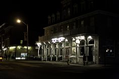 Ontario Street at night in Kingston, Ontario Kingston Ontario, Places Ive Been, Canada, Explore, Street, World, Night, City, The World