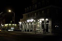 Ontario Street at night in Kingston, Ontario