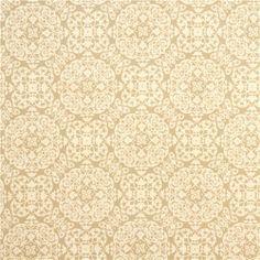beige ornament premium laminate fabric by Michael Miller 2