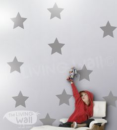 Big Stars Wall Stickers Star Wall Decals Gold by LivingWall