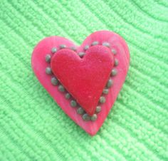 Double Heart Pin v072 by artsdaughter on Etsy, $5.00 #ValentinesDay