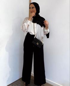 Modest Outfits Muslim, Modest Fashion Hijab, Modern Hijab Fashion, Hijab Fashion Inspiration, Muslim Fashion, Fashion Muslimah, Mode Ootd, Mode Hijab, Mode Outfits