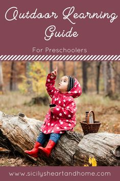 Are you ready to take learning outside with your preschooler? These outdoor learning activity ideas are perfect to help your preschooler learn about nature while using all their senses. Purchase your copy of the Outdoor Learning Guide for Preschoolers today.
