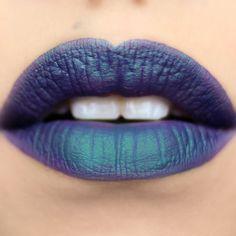 Superstition is a purple shade with a green duochrome/color-shifting effect. - Duochrome Matte Lip Lacquer $10.99