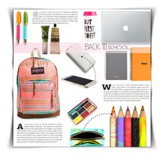 """""""In my backpack"""" by dolly-valkyrie ❤ liked on Polyvore featuring interior, interiors, interior design, home, home decor, interior decorating, JanSport, Zilla, Kate Spade and Mulberry"""