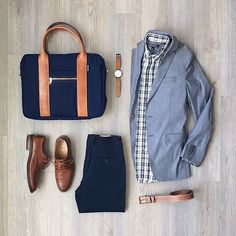Follow @inisikpe for daily style #SuitGrid to be featured  __________________________ #SuitGrid by: @mitchyasui __________________________  Tap For Brands #inisikpe Blazer/Shirt: @bananarepublic Trousers: @frankandoak Shoes: @colehaan Bag: @owenandfred Watch: @instrmntlimited