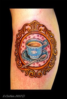 I Love Tea!   Tattooed by Slice at Everlasting Inc, Swansea, South Wales. Took 3 and a half painful and very sore hours.