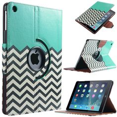Amazon.com: ULAK iPad Air Case - 360 Rotating Green Tribal Pattern Case Cover (Built-in magnet for sleep/ wake feature) For Apple iPad Air iPad 5 (2013 Release) (Green Tribal): Computers & Accessories