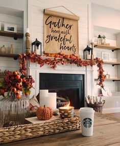Fall mantle styling guide by the dotted bow how to decorate the perfect fall farmhouse mantlescape Fall Fireplace Decor, Fall Room Decor, Fall Apartment Decor, Summer Mantle Decor, Fall House Decor, Fireplace Decorations, Harvest Decorations, Christmas Fireplace, Fireplace Ideas