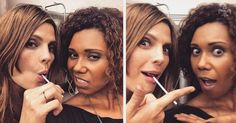 #StanaKatic & #ToksOlagundoye BTS of #Castle