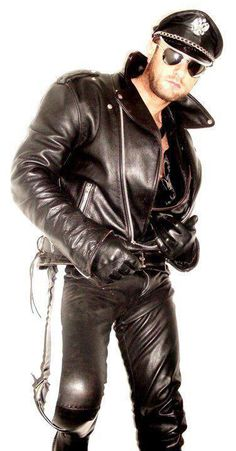 Sexy guy in a black biker leather jacket, black leather pants and black leather gloves http://liamhubpages.hubpages.com/hub/Best-Mens-Leather-Fashion