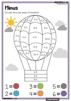 Preschool Learning Activities, Preschool Worksheets, Math Classroom, Preschool Activities, Math Coloring Worksheets, First Grade Math Worksheets, Math For Kids, Math Lessons, School School