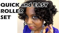 Quickest and Easier Natural Hair Roller Set feat. Modiê Haircare
