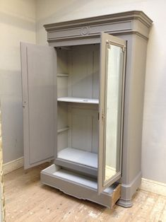 IF3654 ANTIQUE FRENCH PAINTED ARMOIRE / WARDROBE