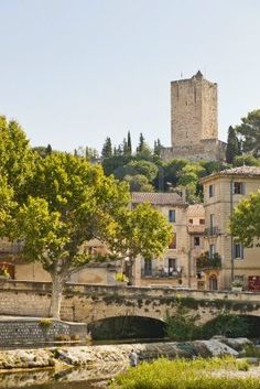 Picture of Medieval Village of Sommiers France and the tower of its fortress stock photo, images and stock photography. Le Gard, Italian Summer, Seen, France Travel, Provence, Places To See, Medieval, Travel Destinations, Beautiful Places