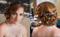 Classic Old Hollywood Curly Bridal Makeup and Hair Updo // Makeup & Hair: Simone Closson
