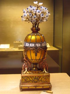Bouquet of Liles Clock Faberge Egg - 1899